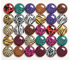Animal Print 10mm Glass Cabochon