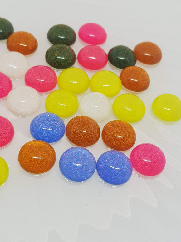 12mm Sparkle Cabochon Flatbacks, Making Jewellery,