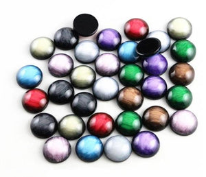 12mm Two Tone Resin Cabochons