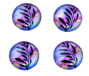 12mm purple 12mm glass cabochon