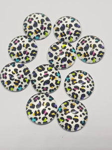 12mm cabochons animal print