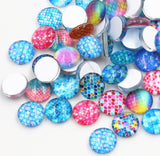 12mm Glass Scale Cabochons, mermaid, dragon