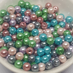 6mm Mixed Pearl Beads