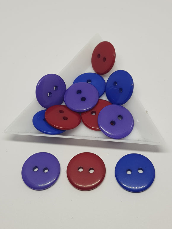 18mm Buttons, Resin Buttons,