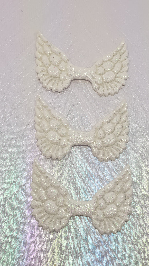 White Glitter Fabric Angel Wings