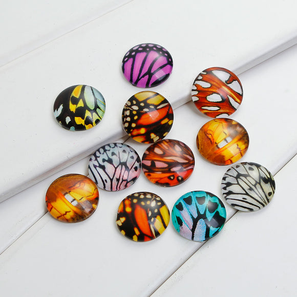 20mm Glass Wing Cabochons
