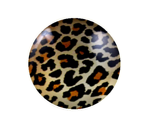 25mm Leopard Animal Print Glass Cabochon