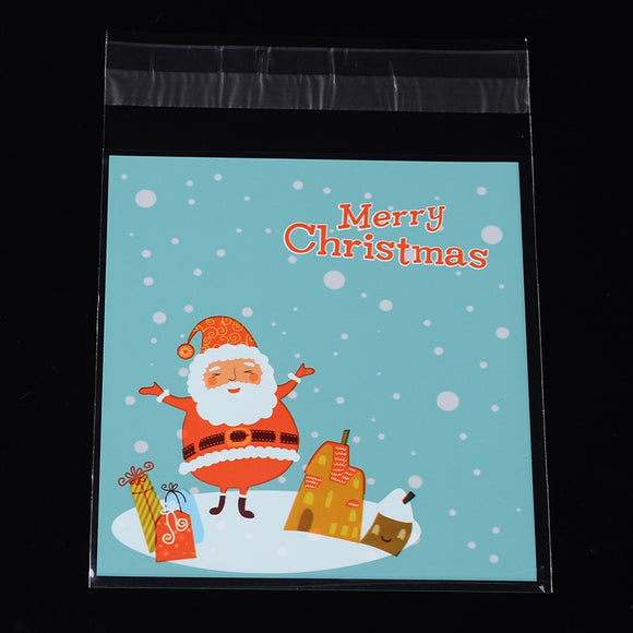 Christmas Santa in Snow Cello Self Seal Bags