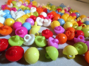30 x Shanked Acrylic Buttons Mixed Colours