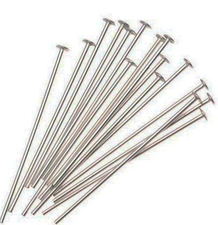 Silver 50mm Head Pins, Making Jewellery,