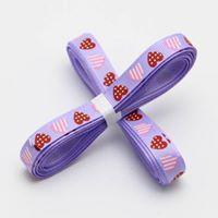 5 yards of Lilac Heart Grosgrain Ribbon 10mm