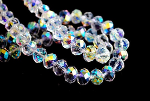 Clear AB Electroplated Glass Beads