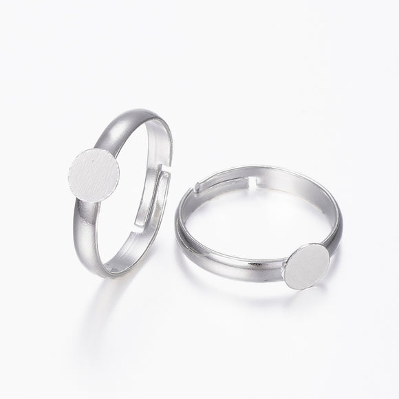 Sterling Silver Plated 6mm Ring Pad