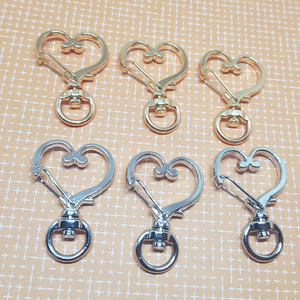 Gold or Silver Heart Swivel Keyring