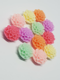 Resin Flower Flatbacks 16mm