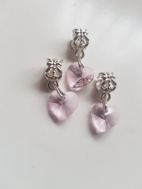Crystal Heart Charm with Swarovski Elements