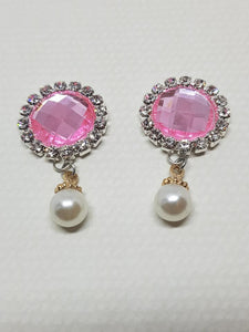 Stunning Rhinestone Flatbacks with Pearl Drop