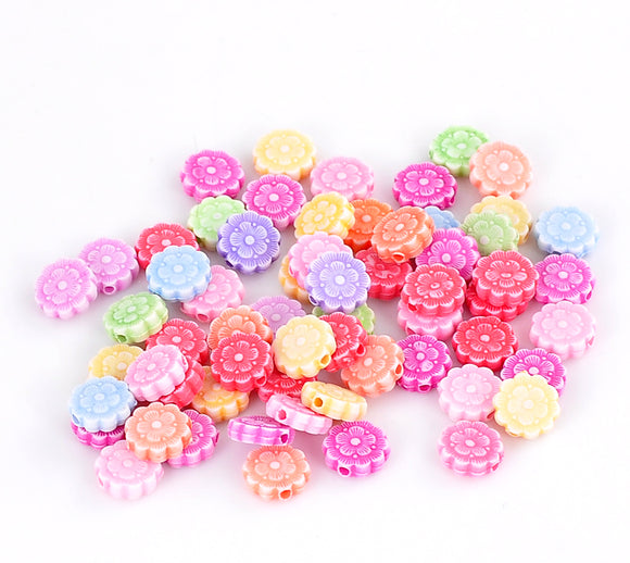 Acrylic Flower Beads Size 10mm