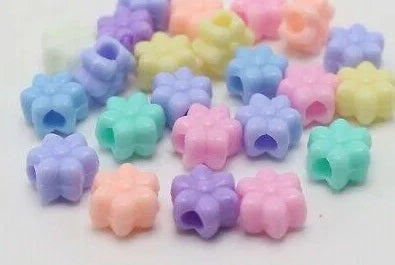 12mm Acrylic Large Hole Flower Beads