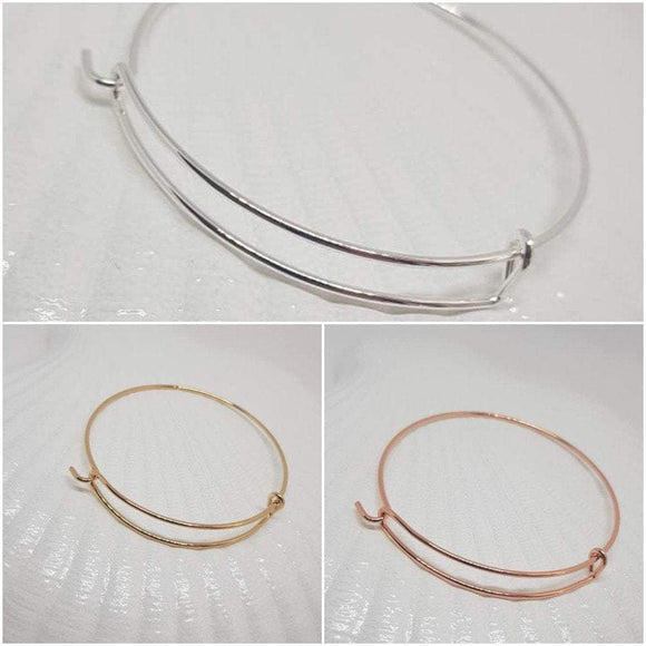 Adjustable Bangle, Gold Bangle, Rose Gold Bangle,