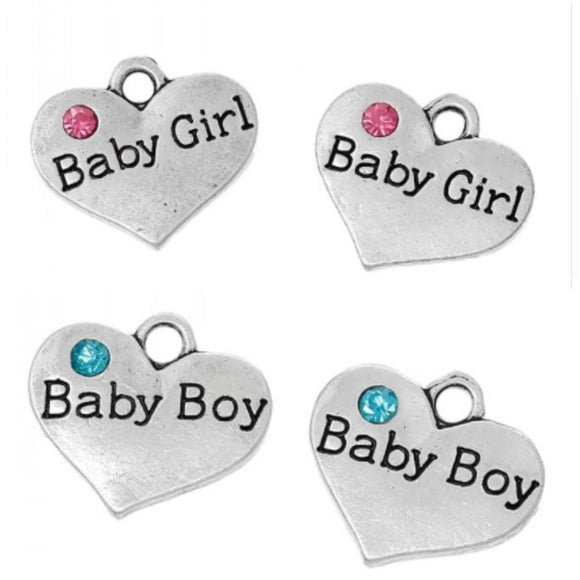 Baby Girl Charms, Baby Boy Charms,