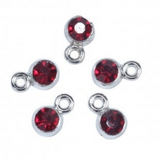 Silver Birthstone Charms, Birthday Charms,