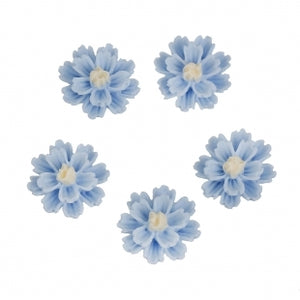 Blue 12mm Resin Flower Flatbacks