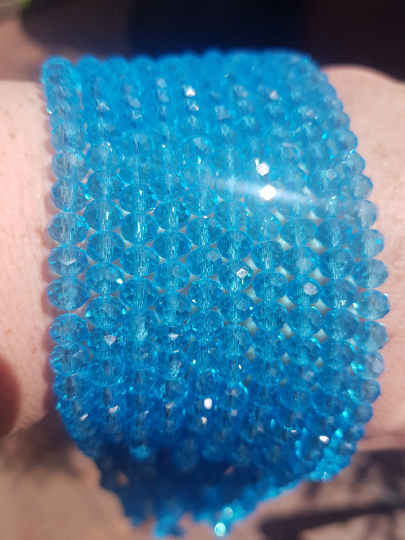 blue rondelle beads
