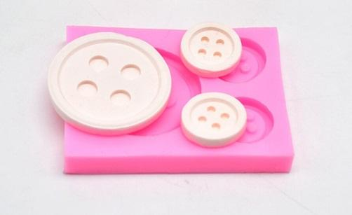 Button Shape Silicone Mold, Resin Craft, Cake Making,