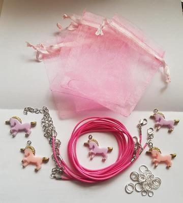 Childrens Jewellery Kit, Unicorn Necklaces,