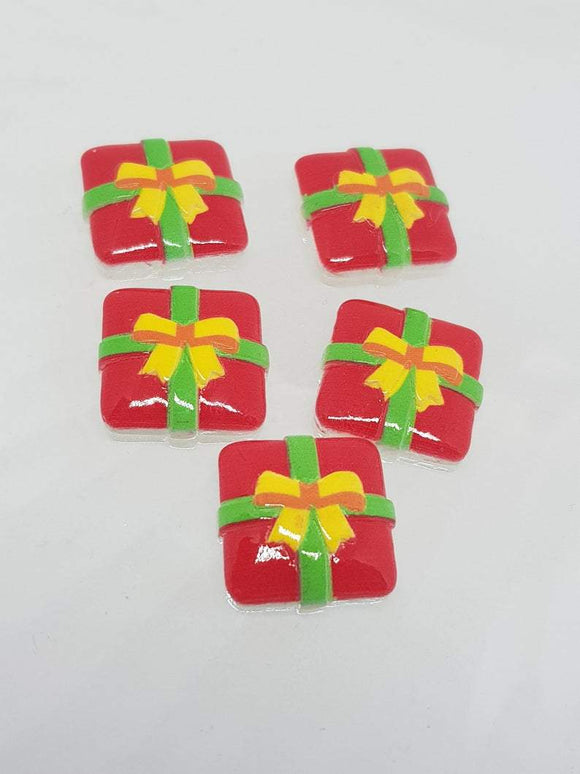 Christmas Gift. Resin Christmas Cabochon Shapes