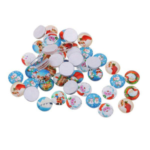 Christmas Theme Glass Cabochon 10mm,