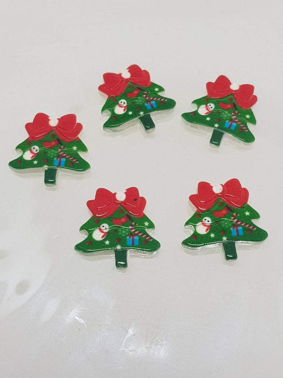 Christmas Tree. Resin Christmas Cabochon Shapes