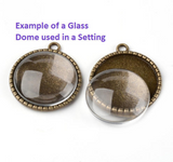 Clear Glass Dome Cabochons for Settings, Making Jewellery,