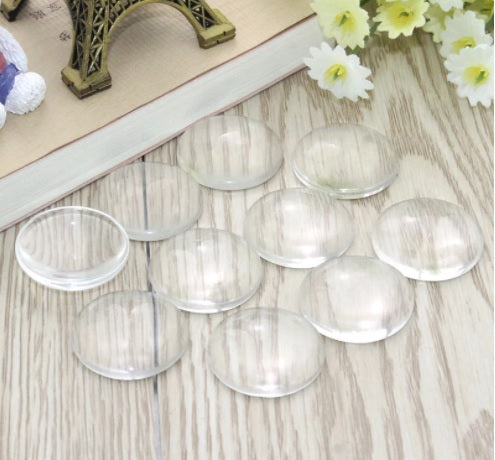 Clear Glass Round Dome Cabochons for Settings