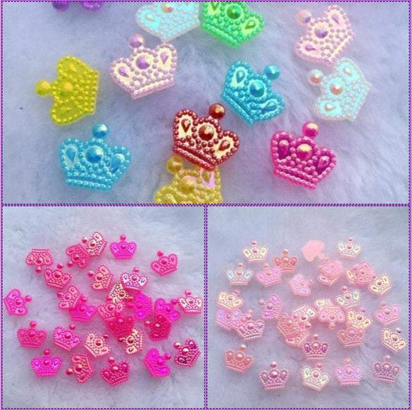 Crown Cabochons, Crown Flatbacks, Mixed Crowns, Princess,