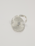 Silver Solid Oval Ring Blanks 18mm x 25mm