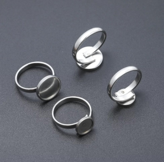 Strong Stainless Steel Cabochons Ring Settings