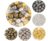 150 x 6mm Silver or Gold Filigree Beads