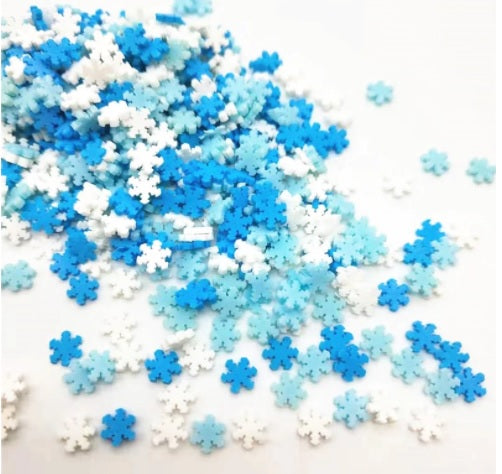 Fimo Clay Snowflake Sprinkles