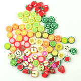Fruit Beads, Fruit Slices, Polymer Fruit, Polymer Beads,