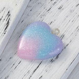 Glitter Heart Resin Pendants,