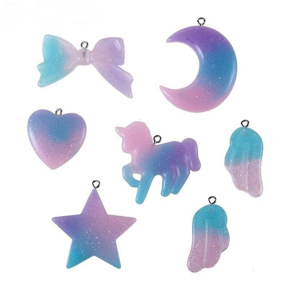 Glitter Resin Pendant Set