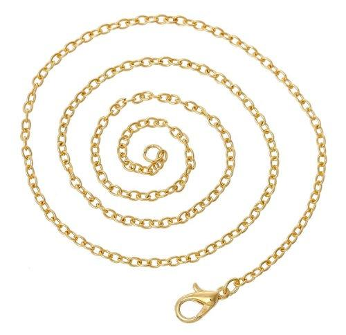 Pack of 3 Gold Necklaces,  18 inches