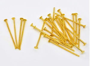 Pack of 16mm, 18mm, 20mm and 22mm Gold Head Pins,
