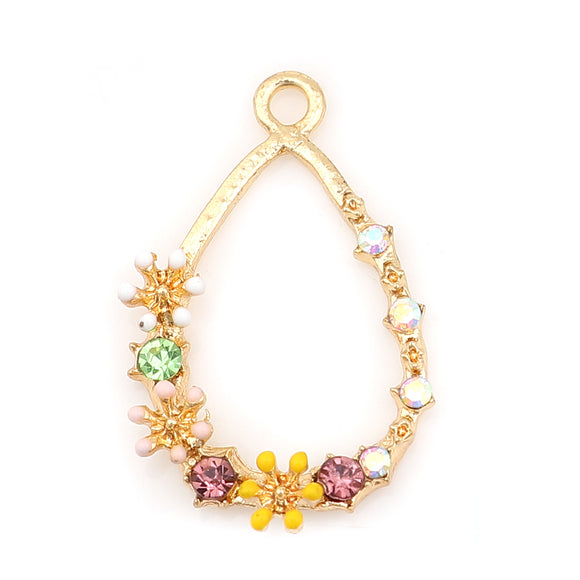 Gold Plated Flower Charm
