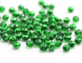 150 Green Rondelle Beads 4mm x 3mm