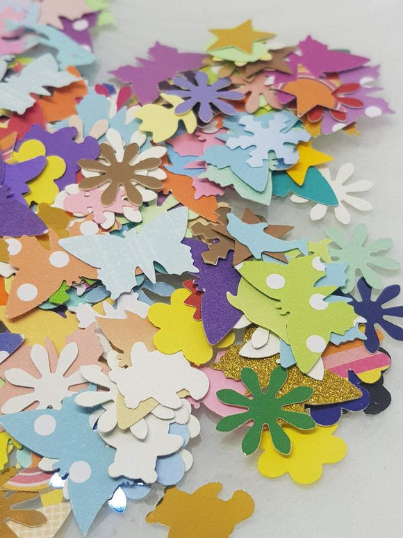 Handcrafted Paper Shapes,  Mixed Colours, 25mm