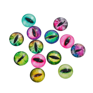 Handmade 12mm Eye Cabochons, Made of Glass