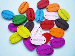 Handmade Wooden Tags or Buttons